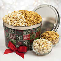 Sea Salt Kettle and Caramel Popcorn Tin